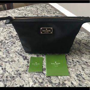 kate spade Bags - NWT Authentic Kate Spade Black nylon Makeup Bag